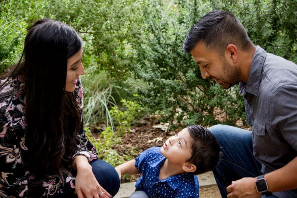 Izzy Tovar with her husband and son